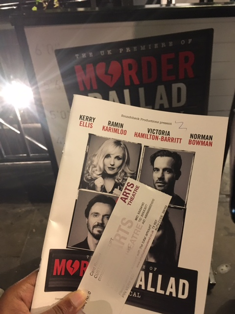 Review: Murder Ballad, Arts Theatre London
